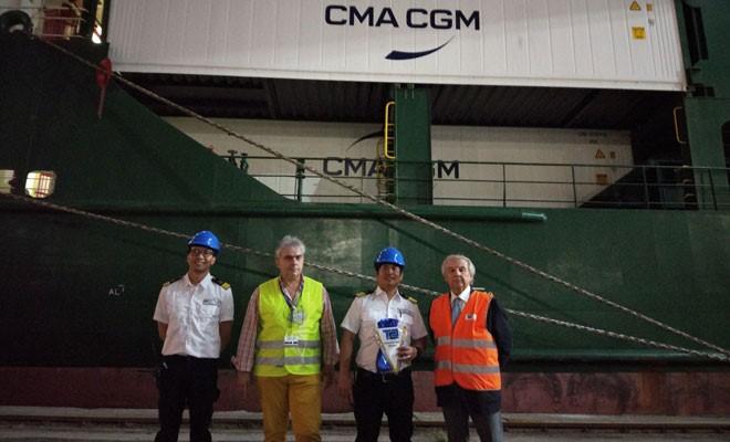 Ecco Contship Sun, prima nave al Tcr di CMA-CGM