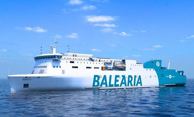 La prima nave a GNL consegnata nel 2019  a Balearia