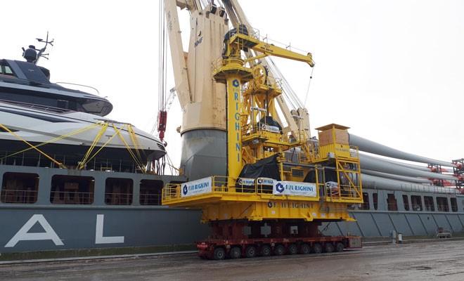 Impiantistica offshore Righini imbarcata alla Sapir