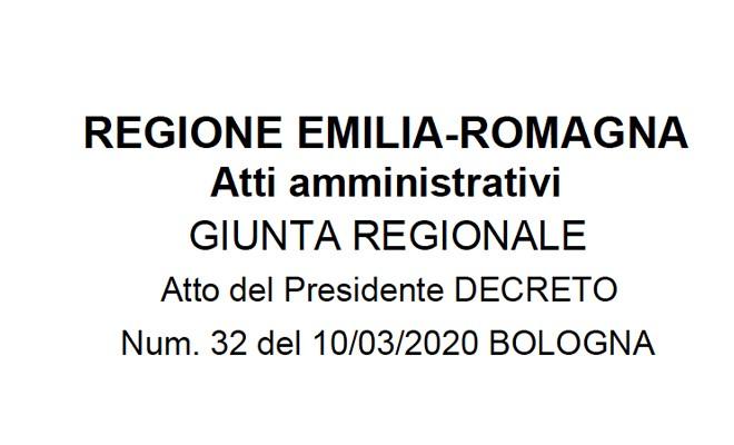 Decreto del presidente della Giunta regionale n. 32