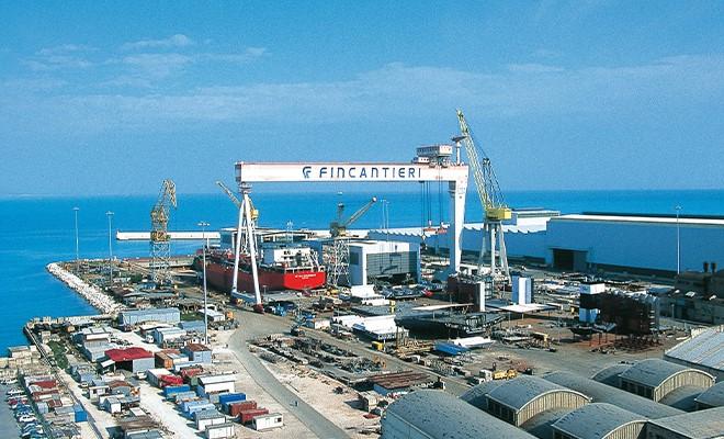 Fincantieri chiude gli otto impianti Italia