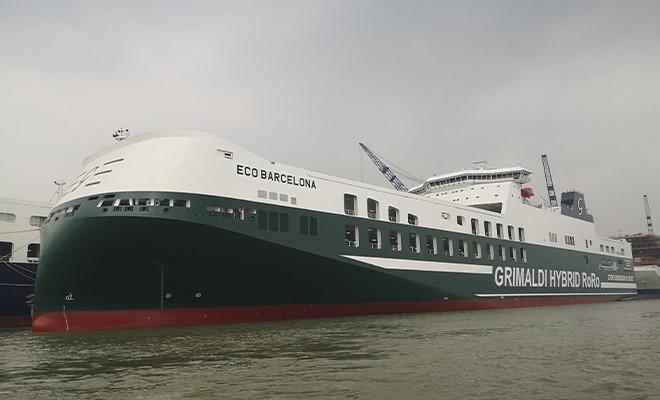 Gruppo Grimaldi, consegnata la Eco Barcelona. In arrivo altre due navi