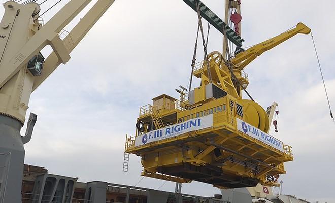 Impianto della F.lli Righini imbarcato al terminal Sapir