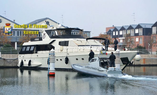 Sequestrato yacht da un milione di euro
